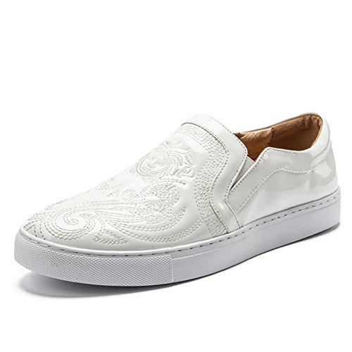 Herren Freizeitschuhe Dress Jugendliche Outdoor Mode Canvas Schuhe Rutschen Schwarz Rot Weiß