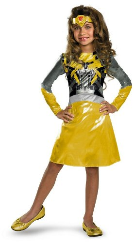 Transformers Bumblebee Girl Costume - Toddler - Toddler (Toddler Bumblebee Transformer Costume)
