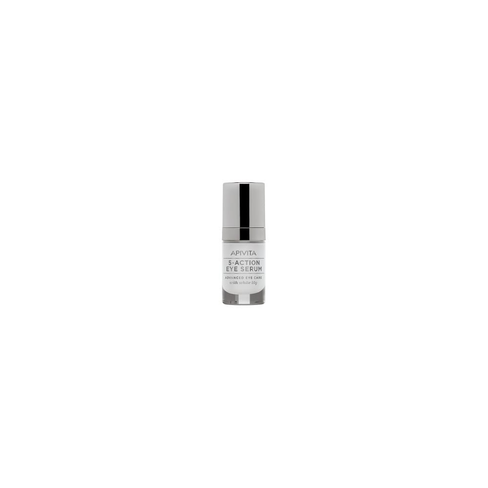 Apivita 5 Action Eye Serum Advanced Eye Care With White Lily 15ml 5201279039639