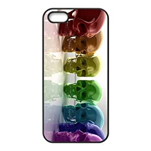 Colorful Crystal skulls Phone Case for iPhone 5S(TPU)