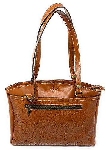 (Patricia Nash Poppy Tote Tooled Leather Handbag Purse)