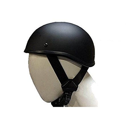 SOA Beanie Novelty Flat Black Motorcycle Half Helmet Cruiser Biker S,M,L,XL,XXL (S, FLAT BLACK)