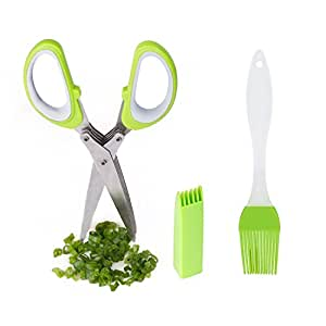 Multifunction Scissors Yummy Sam® Stainless Steel - Multipurpose Kitchen Shear with 5 Blades and Cover with Cleaning Comb (Pack of One)