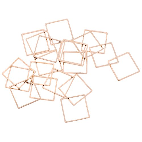 Homyl 20pcs DIY Handmade Geometric Pendant Triangle Square Earring Dangle Jewelry - Gold Square ()