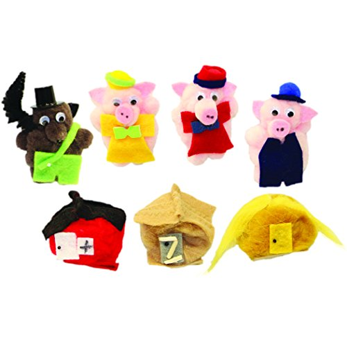 Melody House WZ-505 7 Character Three Little Pigs Monkey Mitt Set Grade Kindergarten to 1, 0.7