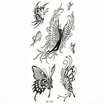 HJLHYL? mariposa tatuaje temporal a prueba de agua moho muestra ...