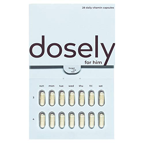 Dosely Men's Multivitamin | Plant-Based, Habit Friendly Vitamins | 21 Essential Vitamins & Minerals | Vegan, Non-GMO, Gluten & Allergen Free | USA Made | 1-Month Supply