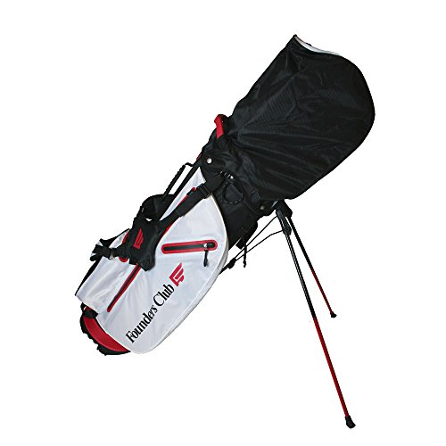 Founders Club Waterproof Golf Stand Carry Bag with 14 Way Top -Light Weight - Red White Black by Founders Club (Image #2)