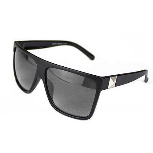 VIPASNAM-Men Women Vintage Large Square Frame Flat Top Outdoor Sunglasses Eyewear - Male Sunglasses Vuitton Louis