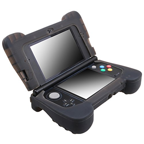 MXRC Silicone rubber cover skin case anti-slip Hand Grip Customize for Nintendo NEW 3DS x 1 Black (New 3ds Grip)