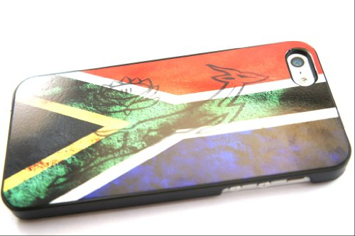 SA Flag south african Rugby Design iphone 5 5S Case Back Cover Metall und Kunststoff