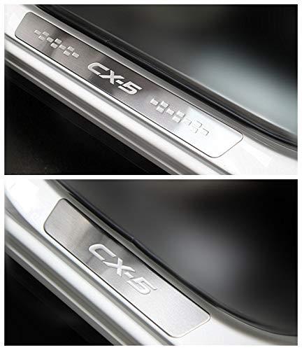 Autoparts Door sill Scuff Plate Guard for Mazda CX5 2012 2013 2014 2015 2016 2017 2018 2019