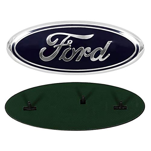 - ORFORD Grille Emblem for Ford, Replacement for Front Grille Emblem Badge Ford F150, Dark Blue Badge Emblem for Ford 2005-2014