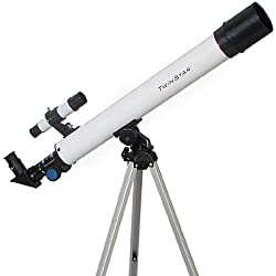 TwinStar AstroMark 50mm 75x Power Refractor Telescope