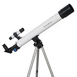 TwinStar AstroMark 50mm 75x Power Refractor Telescope