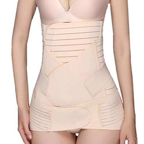 (Landscap Wowen 3 in 1 Recovery Belly Wrap Waist/Pelvis Belt Shaper Postnatal Shapewear(Beige,L))