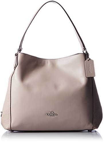 COACH Womens Mixed Leather Shoulder