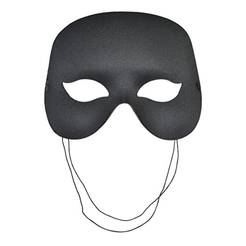 Black Eye Mask Halloween Costume Mask Venetian Italian Masquerade Unisex Sizes: One Size