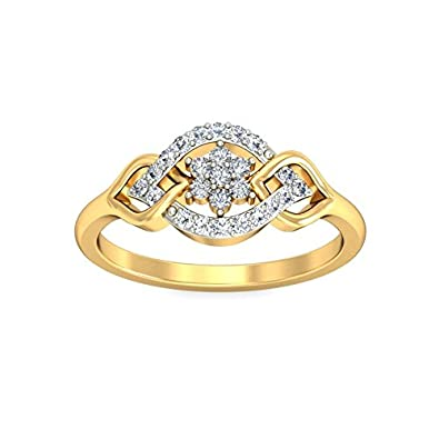 Belle Diamante 18KT Yellow Gold and Diamond Ring Rings
