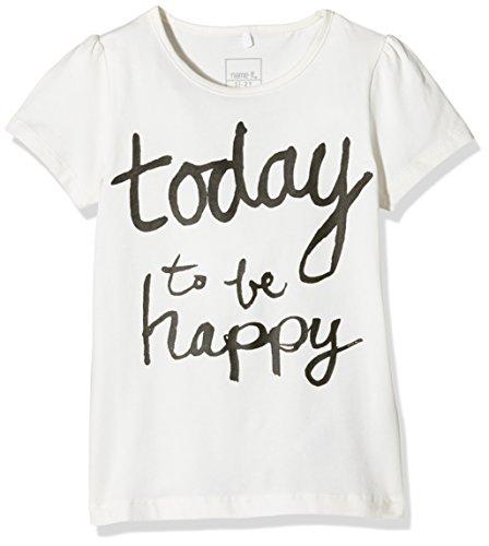 NAME IT Mädchen T-Shirt Nithannah M SS Top 416 Ger, Weiß (Snow White), 116