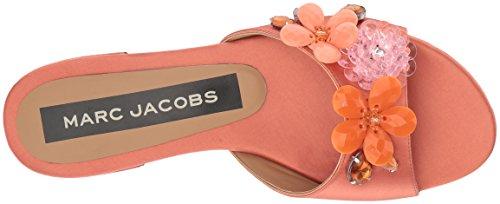 Marc Jacobs Womens Clara Embellished Slide Sandale Saumon