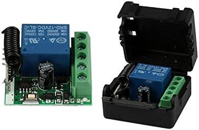 SODIAL DC 12V 1CH 433MHz Interruptor de control remoto inalambrico universal Receptor de Rele de RF 433 MHz Modulo de boton del transmisor Diy Kit