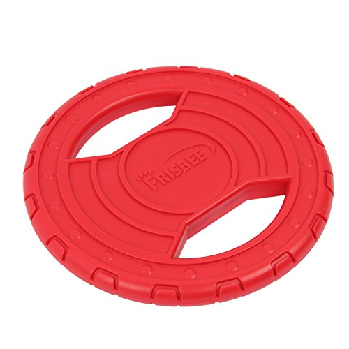 HBuir Durable Rubber Frisbee Floating Toy for Dog Trainin...