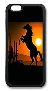 iPhone 6 Plus Cases, Horse In Desert Durable Soft Slim TPU Case Cover for iPhone 6 Plus 5.5 inch Screen (Does NOT fit iPhone 5 5S 5C 4 4s or iPhone 6 4.7 inch screen) - TPU Black