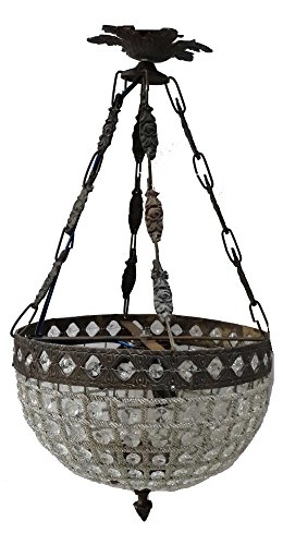 Egypt gift shops French Empire Basket Crystal Beads Hanging Ceiling Chandelier Fixture