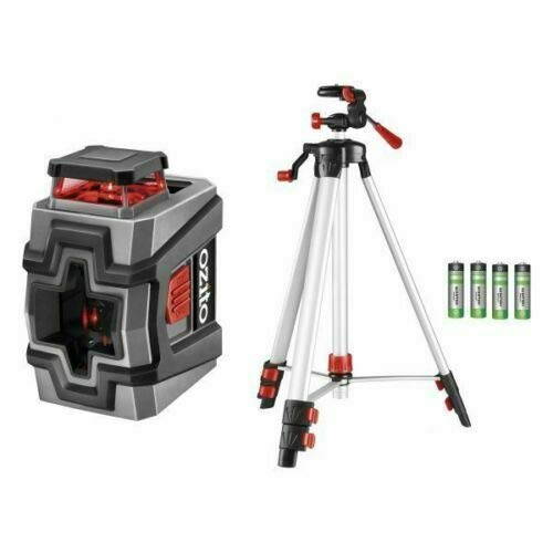 Ozito LLT-3600U 360/° Line Laser Level /& 1.5 Metre Tripod Spirit Level Measure