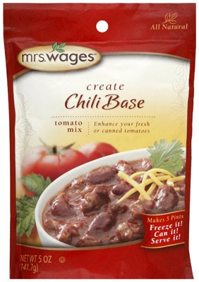 Mrs. Wages W537-J4425 5 Oz Chili Base Mix Seasoning - Quantity 8