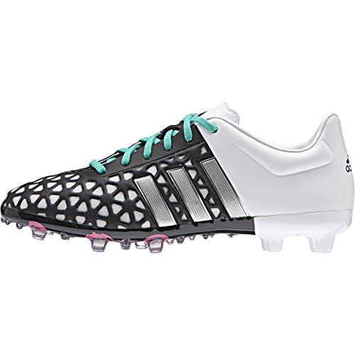 adidas Ace 15.1 Fg/Ag, Chaussures de Football Garçon Multicolore - Negro / Plateado / Verde (Negbas / Plamat / Menimp)