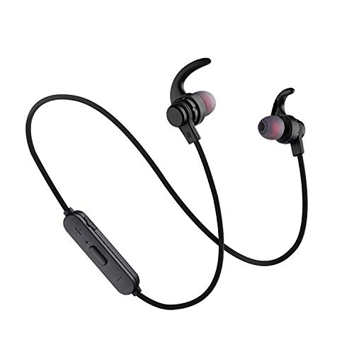 Wireless Bluetooth Headphones, Ipx5 Waterproof Wireless Earbuds, Cvc6.0 Noise Canceling Headphones with Microphone, Suitable for Outdoor, Running, Gym -X5/Black