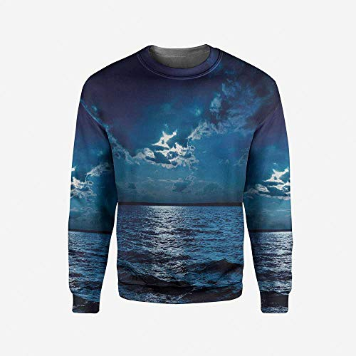 3D Print Teal and White Pullover Sweater by iPrint