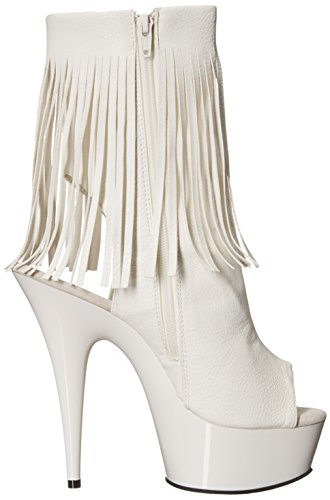 Pleaser - Botas para mujer 41 Wht Faux Leather/Wht