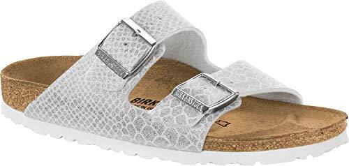 Birkenstock Arizona Magic Snake White Womens Leather Sandals -