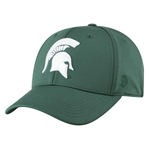 Top of the World Michigan State Spartans Men's Fitted Hat Icon, Green, One Fit
