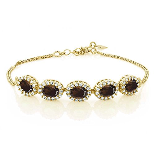 Smoky Quartz Yellow Bracelet - 3