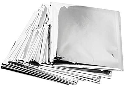 Emergency Mylar Thermal Blankets (Pack of 100) - Individually Packaged