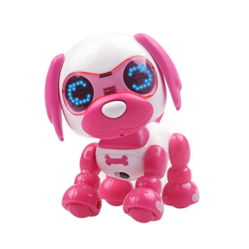 Dog Singing Puppy - Mrocioa Robot Dog Toy,Interactive Puppy Smart Pocket Pet Toys for Boys and Girls, Touch responds to Talking, Baking, Singing, Recording and Snore (Rose Red)