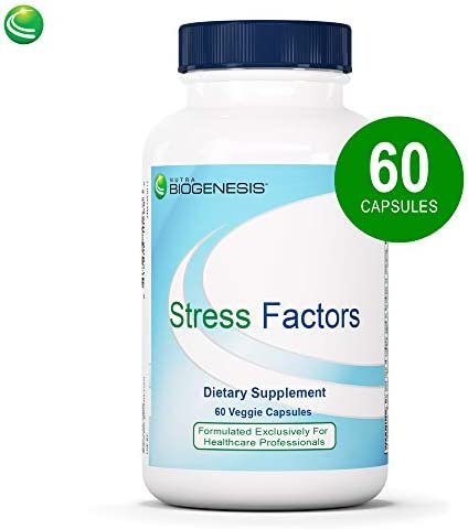 Nutra BioGenesis Stress Factors – Vitamin B6, Lithium and GABA to Help Support Stress Response and Mental Health – 60 Capsules