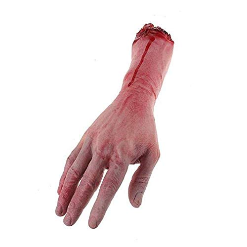 LINJIN 1 Pairs Fake Human Arm Hands Bloody Dead Body Parts Haunted House Halloween Decorations - http://coolthings.us