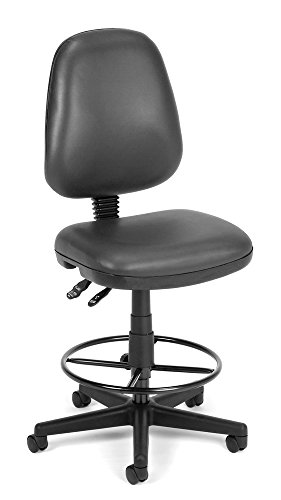 OFM 119-VAM-DK-604 Straton Series Anti-Microbial/Anti-Bacterial Vinyl Task Chair with Drafting Kit by OFM