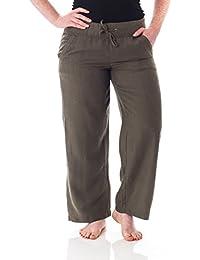 Petite Women's Casual Linen Pants with Comfort Waist 1190