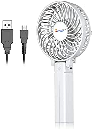 VersionTECH. Mini Handheld Fan, USB Desk Fan, Small Personal Portable Table Fan with USB Rechargeable Battery