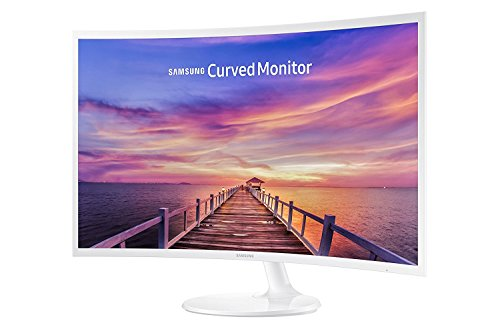 Samsung 32-Inch Widescreen FHD Curved LED Monitor, 1920x1080 Resolution, 16:9 Aspect Ratio, 4ms Response Time, 178 Degrees Viewing Angles, 5,000:1 Static Contrast Ratio, 2 HDMI, Display Port, White by Samsung