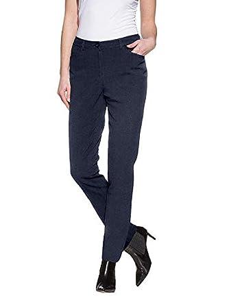 Alba Moda Damen Hose, blau, Dezentes Nadelstreifen Dessin