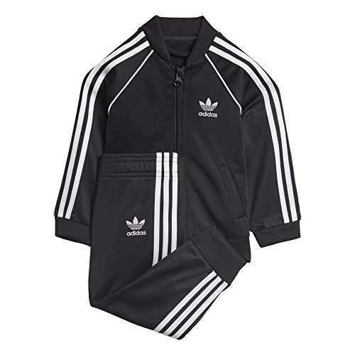 adidas Originals Baby Infant Originals Superstar Tracksuit, Black, 12M