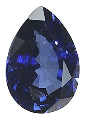 Blue Lab Sapphire Faceted Loose Pear 3 Carats by uGems