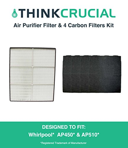 Crucial Vacuum Crucial Air HEPA Air Purifier Filter & 4 O...